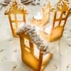 Segnaposto natalizio di pasta frolla con candeline