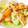 Insalata con pollo e crema di funghi (tipo Caesar Salad)