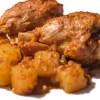 Morbide cosce di pollo speziate cotte in padella